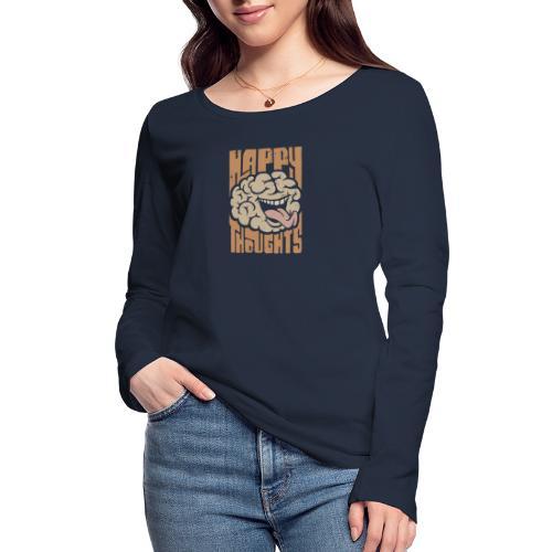 Happy Thoughts - Ekologisk långärmad T-shirt dam från Stanley & Stella