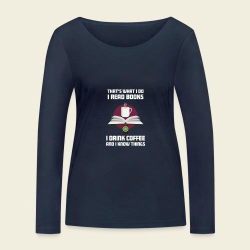 Buch und Kaffee, hell - Frauen Bio-Langarmshirt von Stanley & Stella
