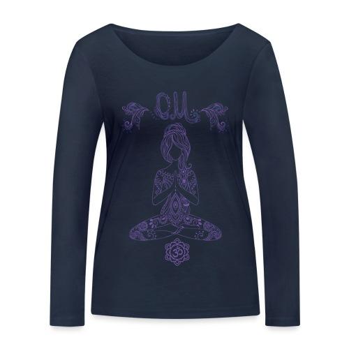 Yogagirl Hippie Boho Style OM - Frauen Bio-Langarmshirt von Stanley & Stella