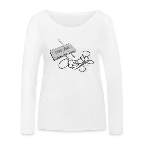 La cassette et son allié - T-shirt manches longues bio Stanley & Stella Femme