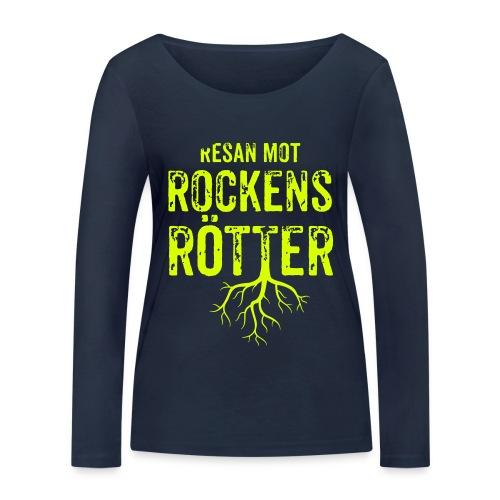 Fotbollströja svart. Resan mot rockens rötter. - Ekologisk långärmad T-shirt dam från Stanley & Stella