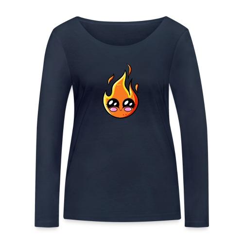 Kawaii Fire - T-shirt manches longues bio Stanley & Stella Femme