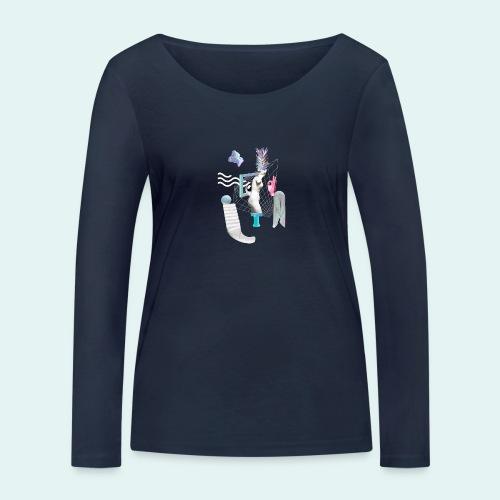 Virtual plaza - Økologisk Stanley & Stella langærmet T-shirt til damer