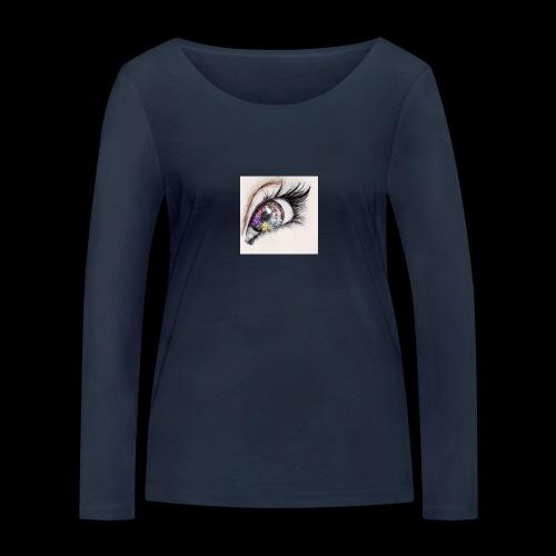 desenho design olhos eye Favim com 403064 - Vrouwen bio shirt met lange mouwen van Stanley & Stella