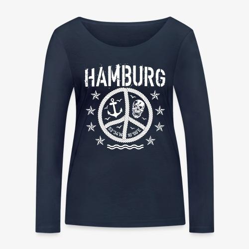 105 Hamburg Peace Anker Seil Koordinaten - Frauen Bio-Langarmshirt von Stanley & Stella