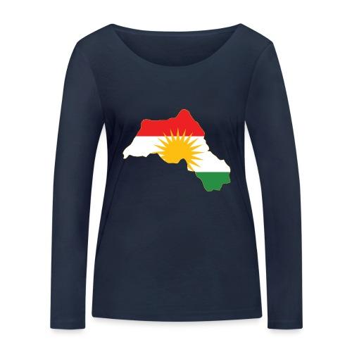 Kurdistan Flag Map - Frauen Bio-Langarmshirt von Stanley & Stella