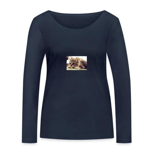 gato tierno - Camiseta de manga larga ecológica mujer de Stanley & Stella