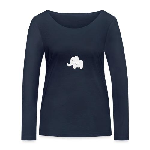 Little white elephant - Women's Organic Longsleeve Shirt by Stanley & Stella