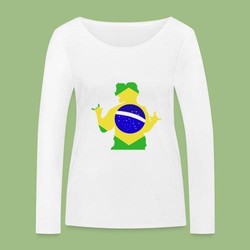 Ronaldinho Brazil - Ekologisk långärmad T-shirt dam från Stanley & Stella