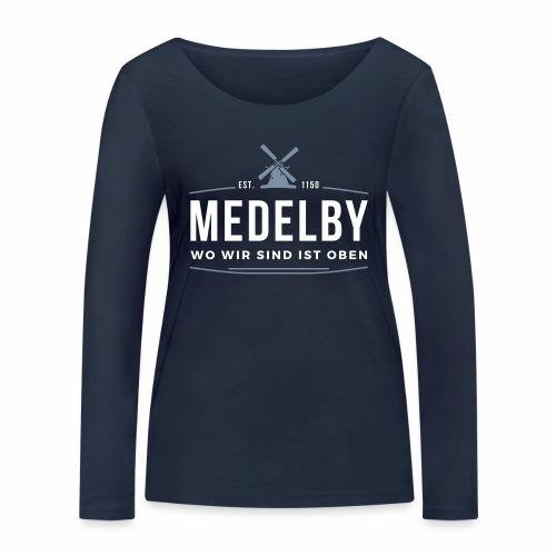 Medelby - Wo wir sind ist oben - Frauen Bio-Langarmshirt von Stanley & Stella