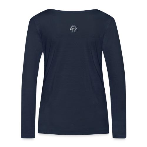 Luckimi logo white small circle on sleeve or back - Women's Organic Longsleeve Shirt by Stanley & Stella
