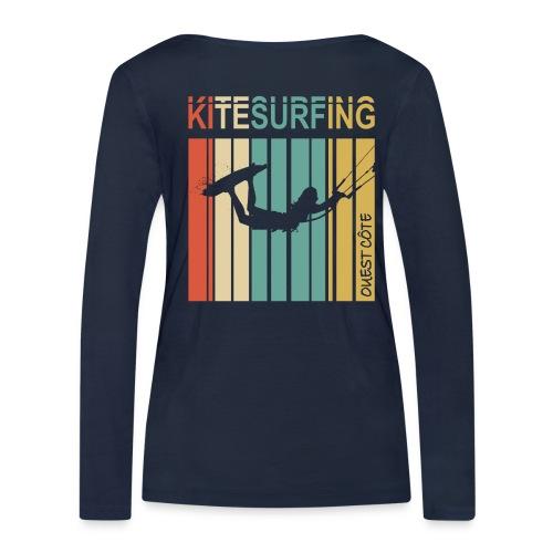 Kitesurfing Ouest Côte - T-shirt manches longues bio Stanley & Stella Femme