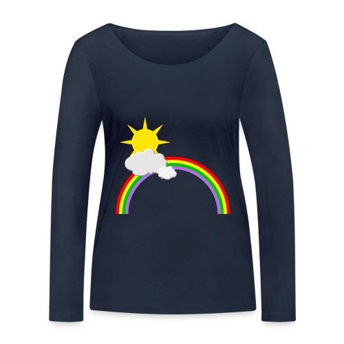 Regenbogen, Sonne, Wolken - Frauen Bio-Langarmshirt von Stanley & Stella