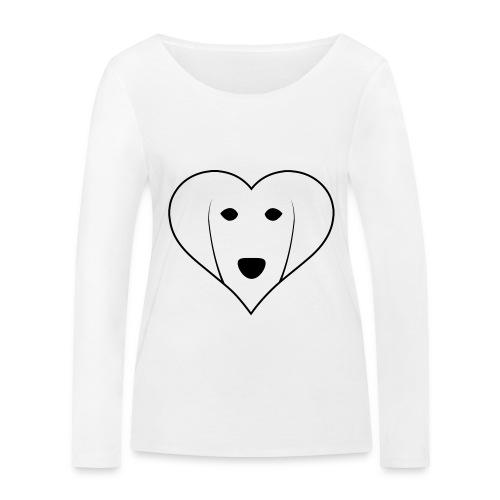 Saluki Heart - Maglietta a manica lunga ecologica da donna di Stanley & Stella