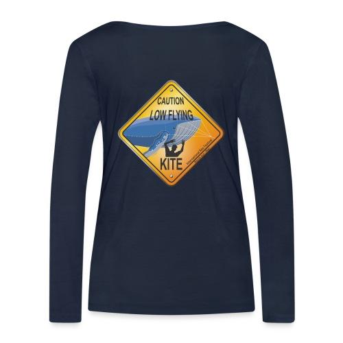 Roadsign Attention cerf-volant à basse altitude - T-shirt manches longues bio Stanley & Stella Femme
