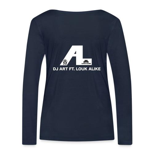 DJ Art ft. Louk Alike (donkere pull-kleuren) - Vrouwen bio shirt met lange mouwen van Stanley & Stella