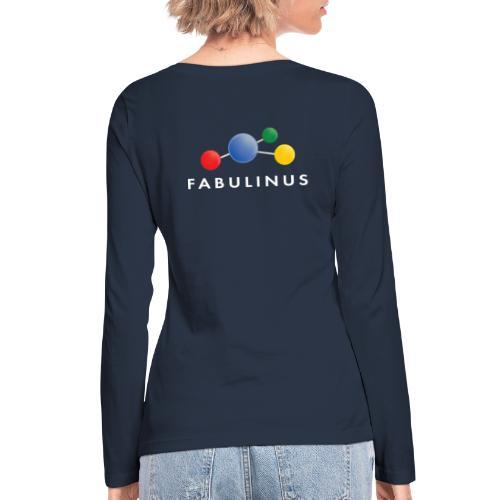 Fabulinus logo enkelzijdig - Vrouwen bio shirt met lange mouwen van Stanley & Stella