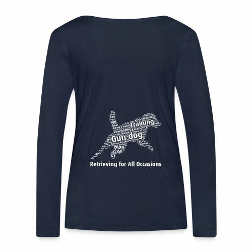 Retrieving for All Occasions wordcloud vitt - Ekologisk långärmad T-shirt dam från Stanley & Stella