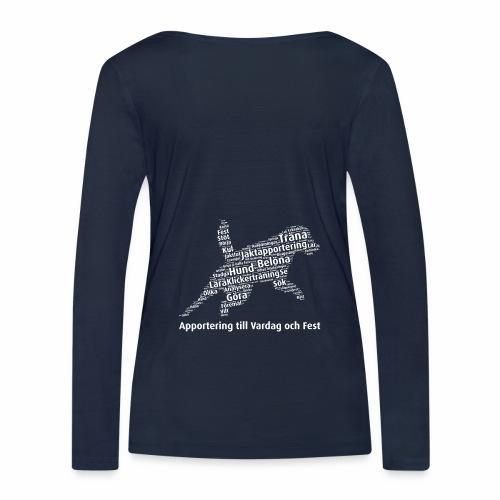 Apportering till vardag och fest wordcloud vitt - Ekologisk långärmad T-shirt dam från Stanley & Stella