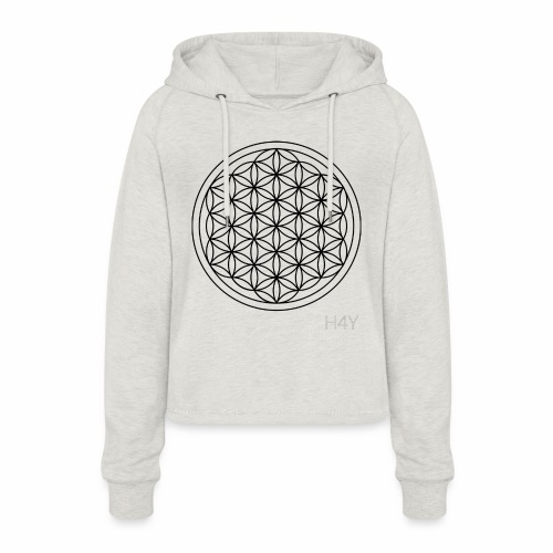 Flower Of Life - This Design Will Heal You - Cropped hoodie til damer