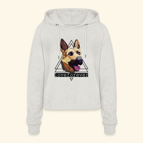 SHEPHERD LOVE FOREVER - Sudadera cropped con capucha