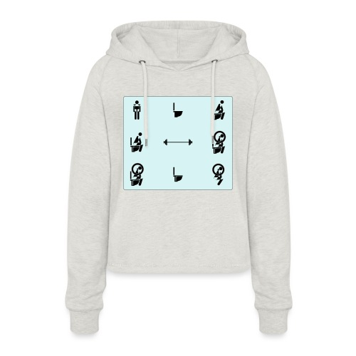 How to squat - Women's Cropped Hoodie