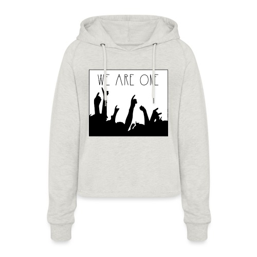 We Are One Hoody Women - Vrouwen Cropped Hoodie