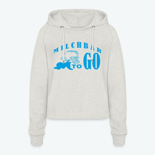TO GO - Frauen Cropped Hoodie