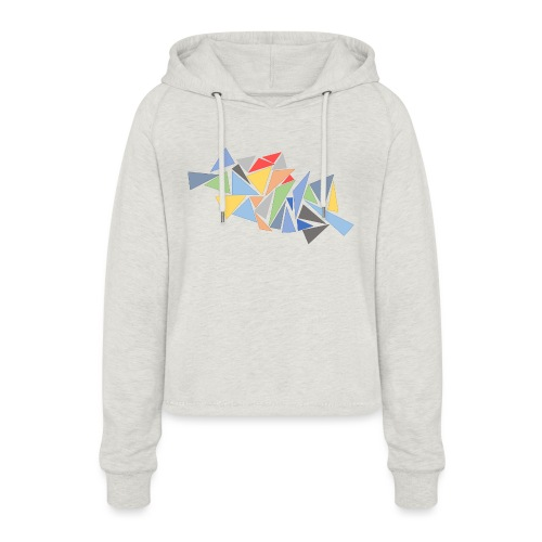 Modern Triangles - Women's Cropped Hoodie