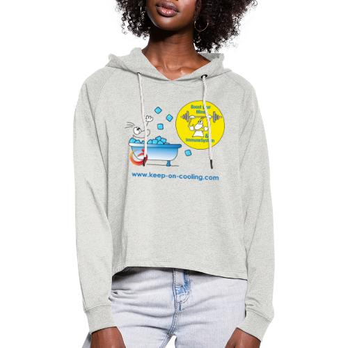 cool and boost - Frauen Cropped Hoodie