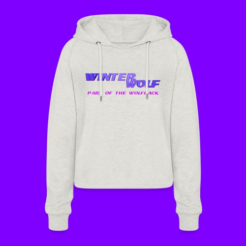 WINTERWOLF LOGO Part of The Wolfpack T-shirt - Vrouwen Cropped Hoodie