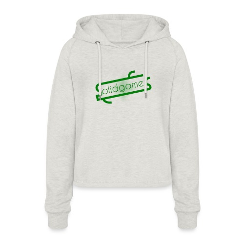 Solidgames Crewneck Grey - Women's Cropped Hoodie