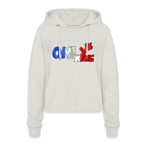 Logo ONLY KING edition francaise - Sweat à capuche court Femme