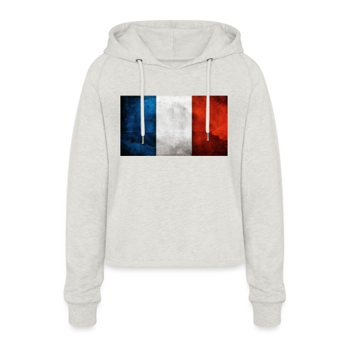 France Flag - Women's Cropped Hoodie