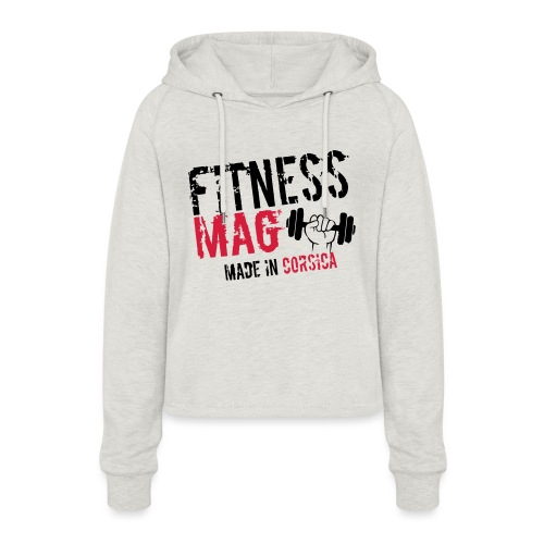 Fitness Mag made in corsica 100% Polyester - Sweat à capuche court Femme