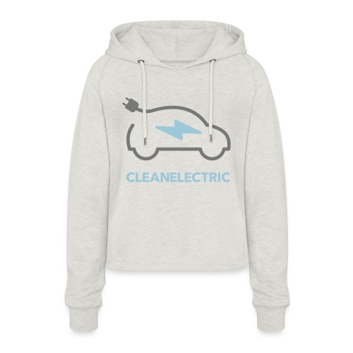 CLEANELECTRIC Logo - Frauen Cropped Hoodie