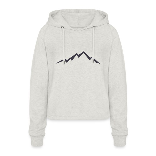 swiss alps clipart sihllouette ski mountains - Vrouwen Cropped Hoodie