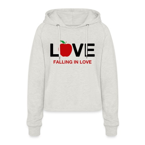 Falling in Love - Black - Women's Cropped Hoodie