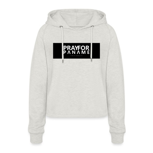 TEE-SHIRT HOMME - PRAY FOR PANAME - Sweat à capuche court Femme
