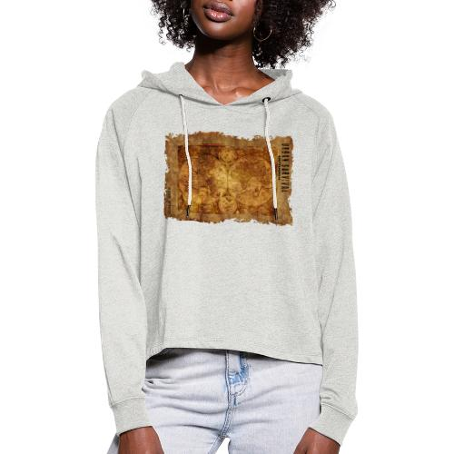 map of the world 2241469 1920 - Frauen Cropped Hoodie
