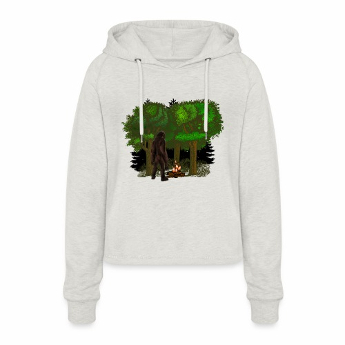 Bigfoot Campfire Forest - Women's Cropped Hoodie