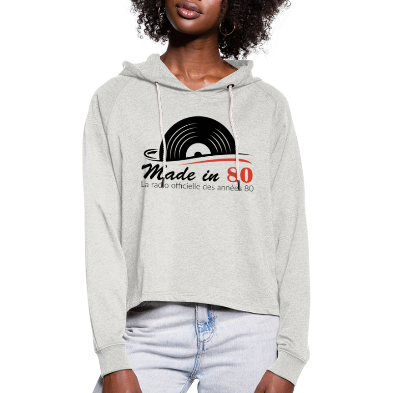 Made in 80 - Sweat à capuche court Femme