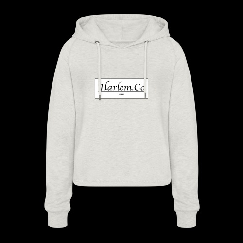 Harlem Co logo White and Black - Women's Cropped Hoodie