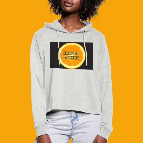 Orange_Logo_Black - Women's Cropped Hoodie