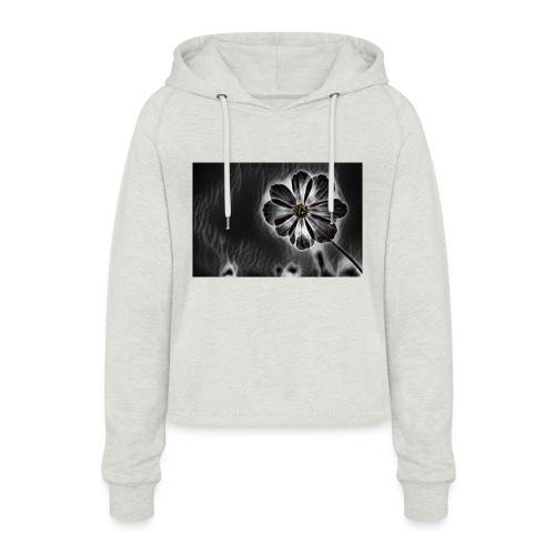 blackflower - Women's Cropped Hoodie