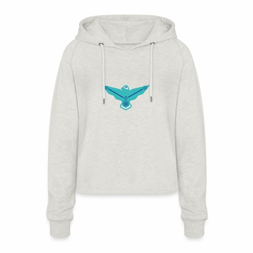 the nordic eagle merch - Cropped Hoodie for kvinner