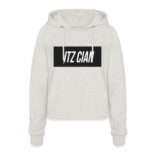 ITZ CIAN RECTANGLE - Women's Cropped Hoodie