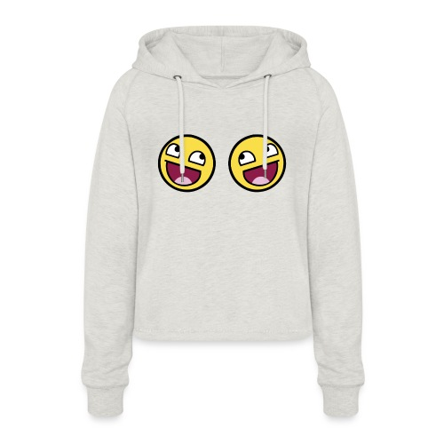 Boxers lolface 300 fixed gif - Women's Cropped Hoodie