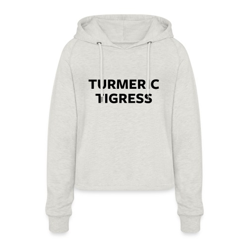 Turmeric Tigress - Women's Cropped Hoodie