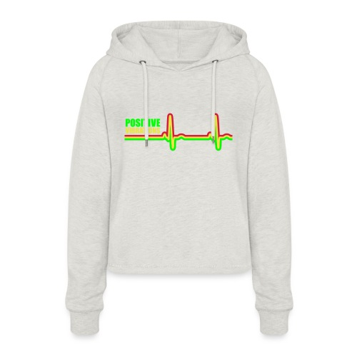 POSITIVE VIBRATION - Women's Cropped Hoodie